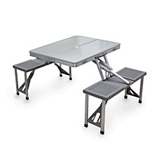 Oniva™ by Aluminum Portable Picnic Table with Seats