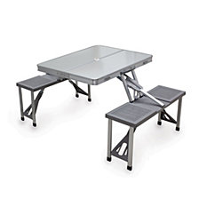 Picnic Time Aluminum Portable Picnic Table with Seats