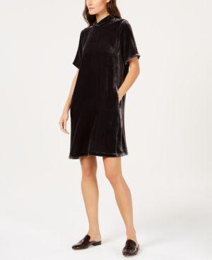 Eileen Fisher Velvet Tie-Back Dress, Regular & Petite 6898017