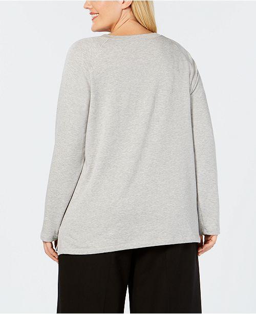 6330c39b8e8 Eileen Fisher Plus Size Tencel® Side-Split Top - Tops - Plus Sizes ...