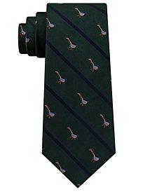 Club Room Men's Pheasant Stripe Silk Tie, Created for Macy's