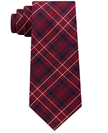 Club Room Men's James Plaid Silk Tie, Created for Macy's