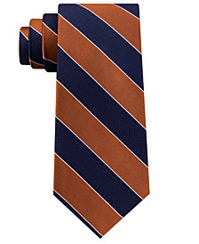 Club Room Men's Framed Bar Stripe Silk Tie, Created for Macy's