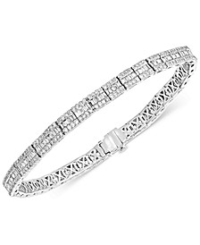 Diamond Baguette Link Bracelet (2-7/8 ct. t.w.) in 14k White Gold