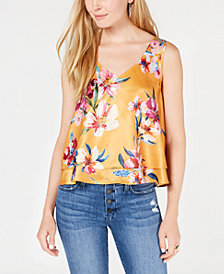 Bar III Ruffled-Hem Tank Top, Created for Macy's