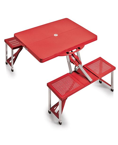 Picnic Time Oniva™ by Picnic Table Portable Folding Table with Seats