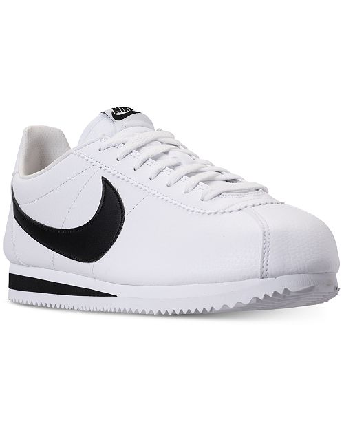 buy popular 55cd8 3589c ... Nike Men s Classic Cortez Leather Casual Sneakers from Finish ...