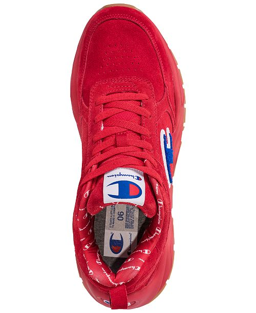 a5f198e0089 ... Champion Men s 93Eighteen Suede Chenille Athletic Training Sneakers  from Finish Line ...