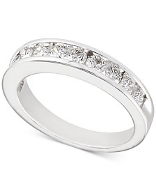 Diamond Channel-Set Band (3/4 ct. t.w.) in 14k White Gold