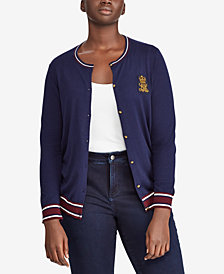 Lauren Ralph Lauren Plus Size Embroidered Cardigan