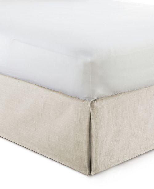 "Colcha Linens Cambric Natural Bedskirt 15""-King"