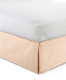"Cambric Peach Bedskirt 15""-King"