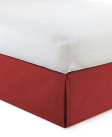 "Cambric Red Bedskirt 15""-King"