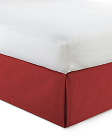 "Cambric Red Bedskirt 15"" Drop Twin/Twin-XL"