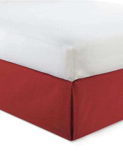 """Colcha Linens Cambric Red Bedskirt 15""""-King"""