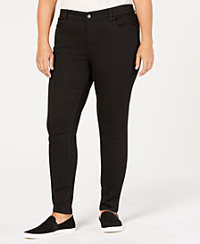 WILLIAM RAST Plus Size Black Skinny Jeans