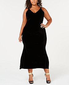 Rebdolls A-Line Midi Velvet Dress from The Workshop at Macy's
