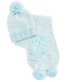 Berkshire Little & Big Girls 3-Pc. Hat, Scarf & Gloves Set