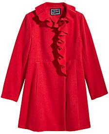 S. Rothschild Big Girls Ruffle-Trim Coat