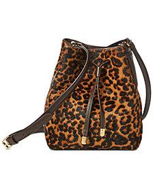 Lauren Ralph Lauren Dryden Mini Debby Leopard Drawstring