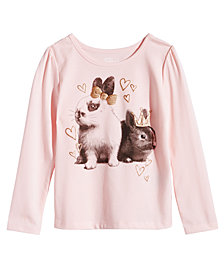 Epic Threads Little Girls Bunny T-Shirt, Created for Macy's