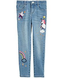 Epic Threads Little Girls Embroidered Jeans, Created for Macy's