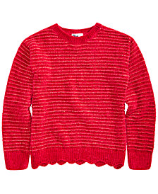 Epic Threads Big Girls Scalloped Chenille Sweater, Created for Macy's
