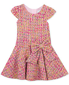 Rare Editions Little Girls Drop-Waist Tweed Dress