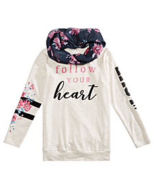 Belle Du Jour Big Girls 2-Pc. Graphic-Print Tunic & Scarf Set