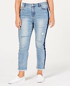 RACHEL Rachel Roy Trendy Plus Size Ripped Skinny Jeans