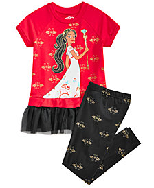 Disney Little Girls 2-Pc. Elena Graphic Tunic & Leggings Set