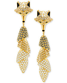 Swarovski Gold-Tone Crystal Fox Earring Jackets