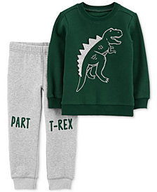 Carter's Baby Boys 2-Pc. Dinosaur Sweatshirt & Pants Set