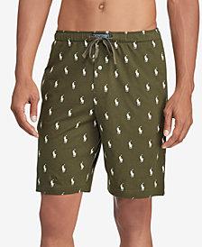Polo Ralph Lauren Men's Pony-Print Cotton Sleep Shorts