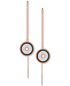 Swarovski Rose Gold-Tone Pavé Lollipop Threader Earrings