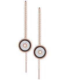 Swarovski Rose Gold-Tone Pavé Lollipop Threader Earrings