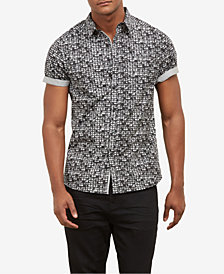 Kenneth Cole Men's City Windows Printed Shirt