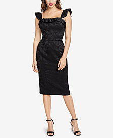 RACHEL Rachel Roy Ruffled Sheath Dress