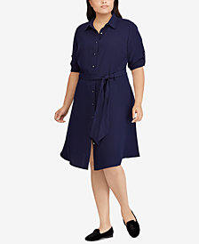 Lauren Ralph Lauren Plus Size Fit & Flare Shirtdress