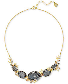 "Swarovski Gold-Tone Crystal Vine Collar Necklace, 14-4/5"" + 3"" extender"