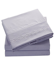 Double Brushed Microfiber Bed Sheet Set Full