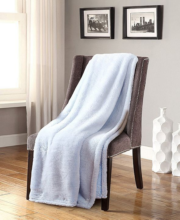 De Moocci Frosted Tip Fluffy Oversized Throw Super Soft - 50 x 60