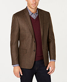 Lauren Ralph Lauren Men's Classic-Fit UltraFlex Stretch Brown/Green Tic Wool Sport Coat