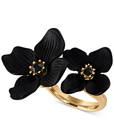 RACHEL Rachel Roy Gold-Tone Crystal Flower Statement Ring