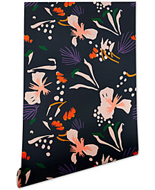Deny Designs Holli Zollinger Anthology of Pattern Seville Garden Black Wallpaper