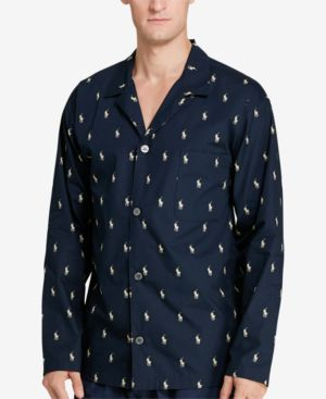 Men'S All Over Polo Player Robe in Cruise Navy