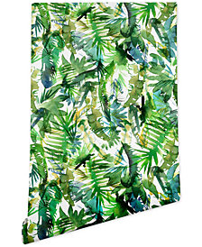 Deny Designs Schatzi Brown Vibe of the Jungle Green Wallpaper