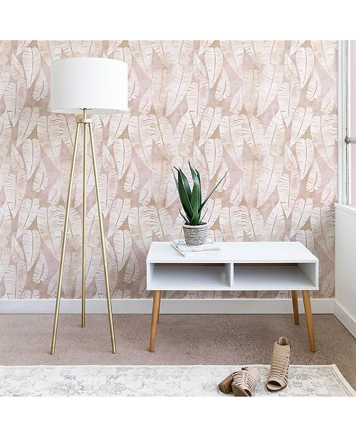 Deny Designs Schatzi Brown Island Goddess Leaf Creme 2'x4' Wallpaper