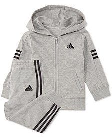 adidas Baby Boys 2-Pc. Altitude Full-Zip Cotton Hoodie & Joggers Set