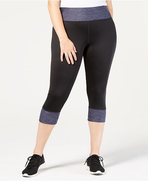 0f91cf322de6e Ideology Plus Size Colorblocked Cropped Leggings, Created for Macy's